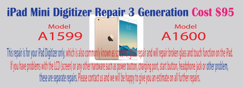 ipad mini 3 digitizer repair houston